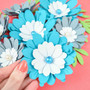 Small Clementine Paper Flower Template