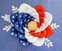 American Flag Paper Flower Template