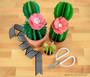 Paper Cactus Templates - Prickly Pear, Ferocactus and Aloe Vera