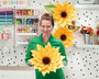 Giant Paper Sunflower Templates - Fringe Center