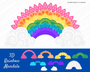 Rainbow Mandala SVG Craft File