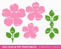 Garden Paper Rose Templates