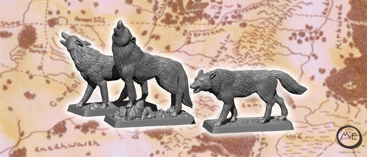 Warg captain and wargs