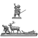August 2020 Releases: Lossoth hunter with elk drawn sled and Merry at the battle of Bywater.