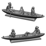 February 2019 Designer release: Lorien boat with Aragorn, Frodo and Sam.