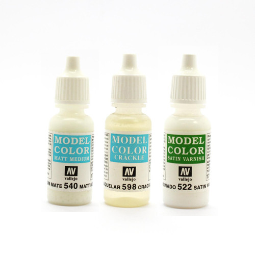 Vallejo Model Color Glazes, Mediums, Varnishes selections