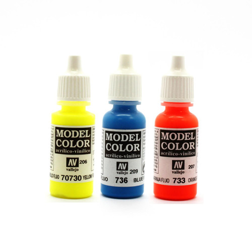 Fluorescent Vallejo Model Color Acrylic Paint selection