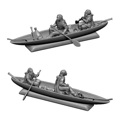 MZ645 Lorien boat with Legolas and Gimli