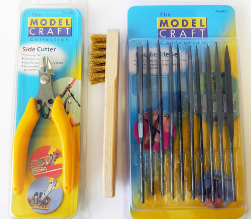 Super Snipper and Brass Wire Brush and File set