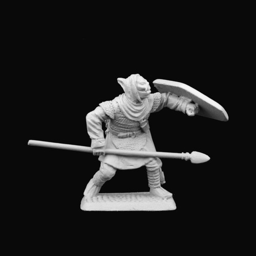 M516 Hooded Half-orc with spear