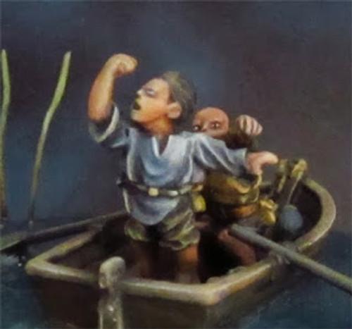 M83 'Smeagol and Deagol in boat' painted example