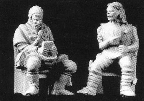 M114 Seated Cardplayers
