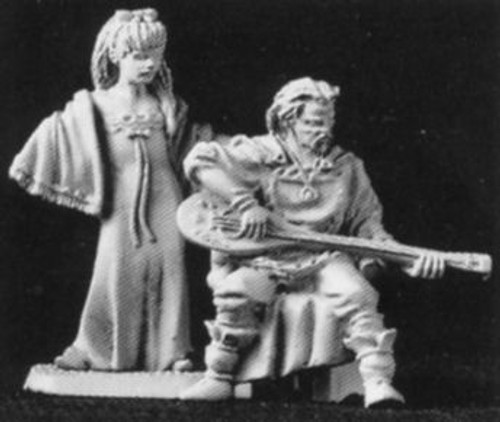 M120 Seated Lute-Player and Girl