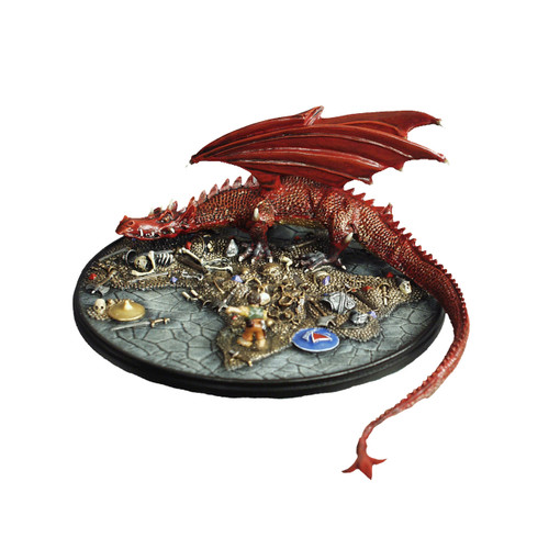 M62 Smaug the Dragon, Bilbo and Treasure Vignette - Painted