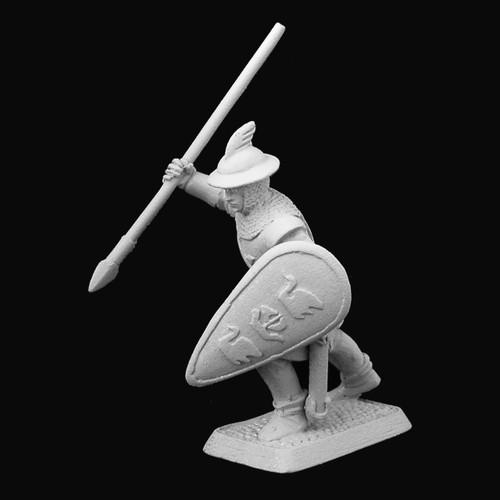 M491 - Dol Amroth Spearman - advancing with raised spear
