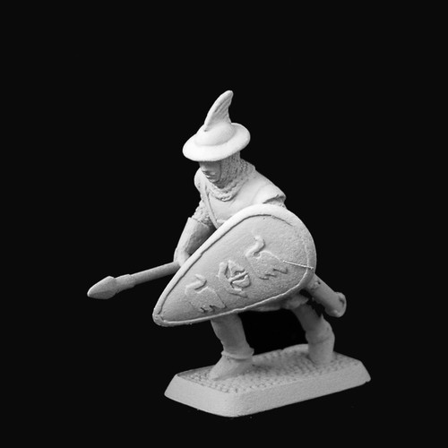 M493 Dol Amroth Spearman advancing with lowered spear