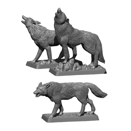 MZ675 Warg captain and Wargs figures