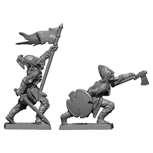 Deadmen of Dunharrow - standard bearer and axeman