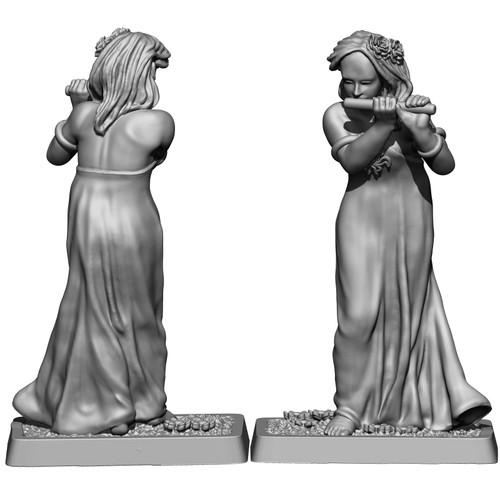 MZ674 Elven Flautist figure