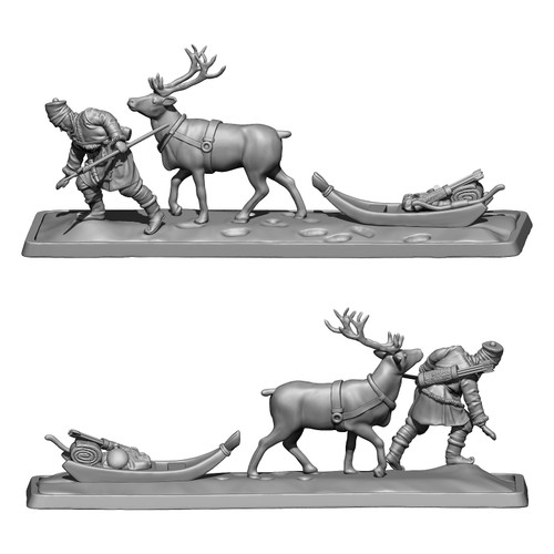 MZ665 Lossoth hunter with elk drawn sled.