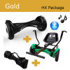 """Package Gold - 10"""" Bluetooth OFF-ROAD Hoverboard, SmartKart4 Drift Hoverkart & Carrying Bag"""