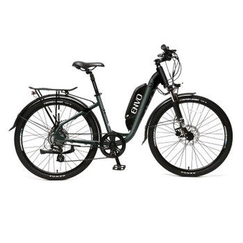 "ENVO ST - 500W 15"" Frame Step-thru Electric Bike - Jungle Black"