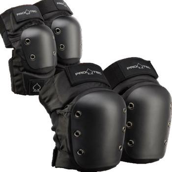 PROTEC - KNEE / ELBOW PAD SET ADULTS - BLACK - Large