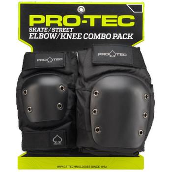 PROTEC - KNEE / ELBOW PAD SET ADULTS - BLACK - SMALL