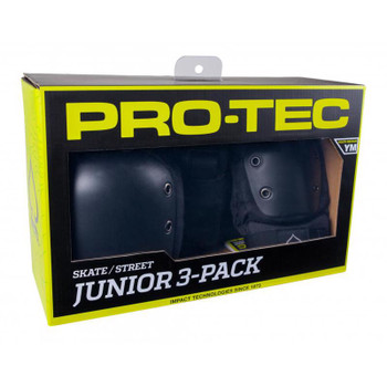 PROTEC JUNIOR - STREET GEAR 3 PACK - black checkered design - YOUTH MEDIUM