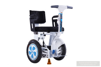 Airwheel A6TS 520WH Electric Smart Wheel Chair - Self Balancing Sit-on Scooter (White/Blue)