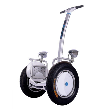 OPEN BOX - Airwheel S5 680WH Electric Two Wheel Self Balancing Scooter (White / Blue)