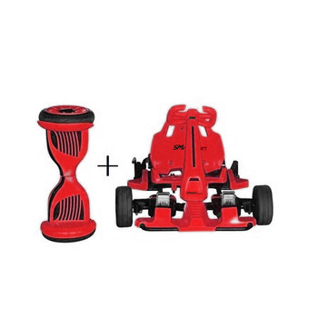 SmartKart Speed - Electric Go cart with Hoverboard - Red
