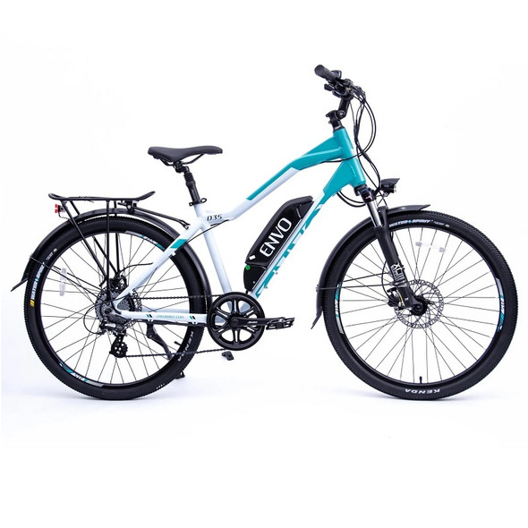 "ENVO D35 - 500W 18"" Frame Electric Bike - Ice Teal"