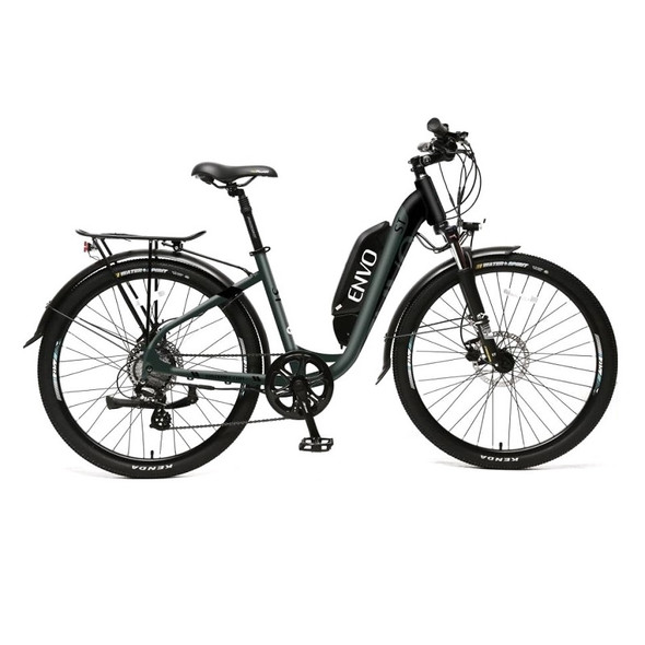 "ENVO ST - 500W 19"" Frame Step-thru Electric Bike - Jungle Black"