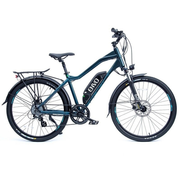 "ENVO D35 - 500W 18"" Frame Electric Bike - Dark Aquatic Galactic"
