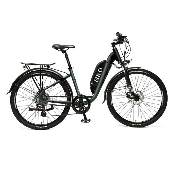 "ENVO ST - 500W 15"" Frame Step-thru Electric Bike - Jungle Black"