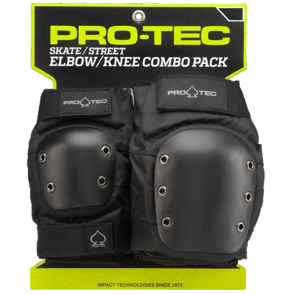 PROTEC - KNEE / ELBOW PAD SET ADULTS - BLACK - Extra Large