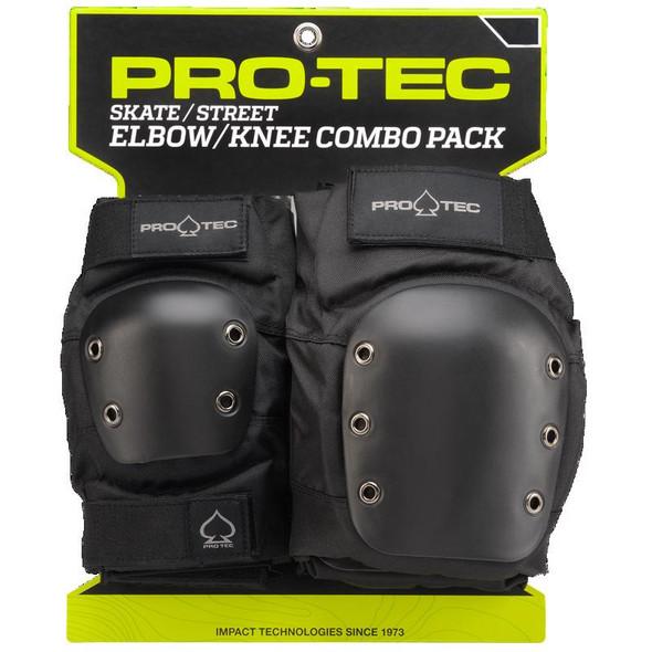PROTEC - KNEE / ELBOW PAD SET ADULTS - BLACK