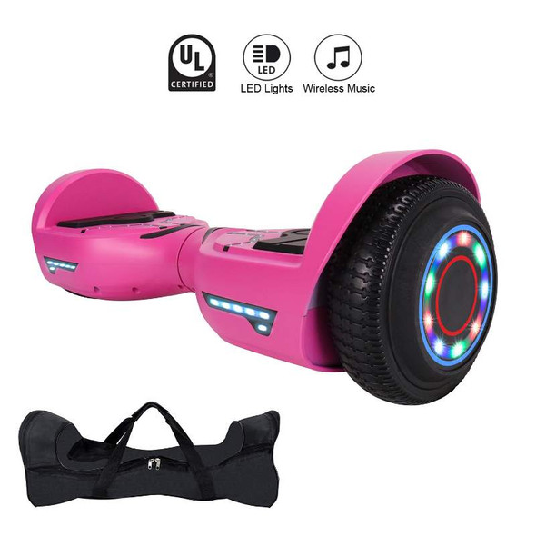 "Smartboard R8 6.5"" Cool Hoverboard with LED Wheel, LED Top, Bluetooth, Free Bag"