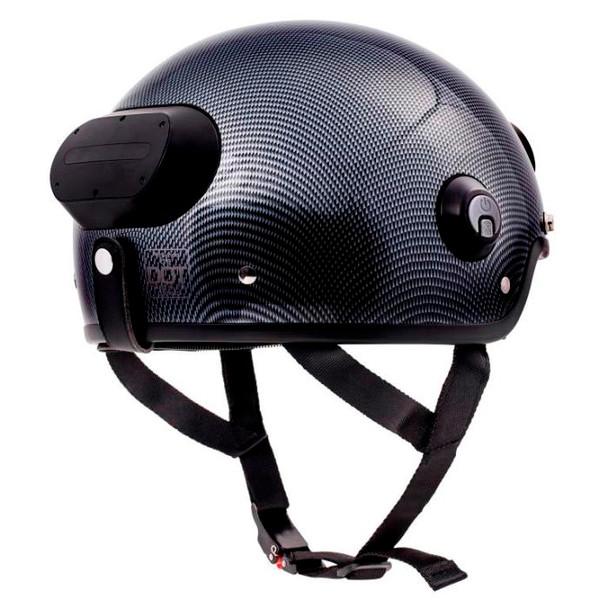 Airwheel C6 Smart Motorcycle Helmet with Built-in Camera & Speakers (Carbon Black)