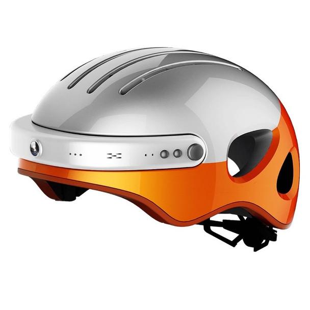 Airwheel C5 Smart Bike Helmet with Built-in Camera & Speakers (White / Orange)