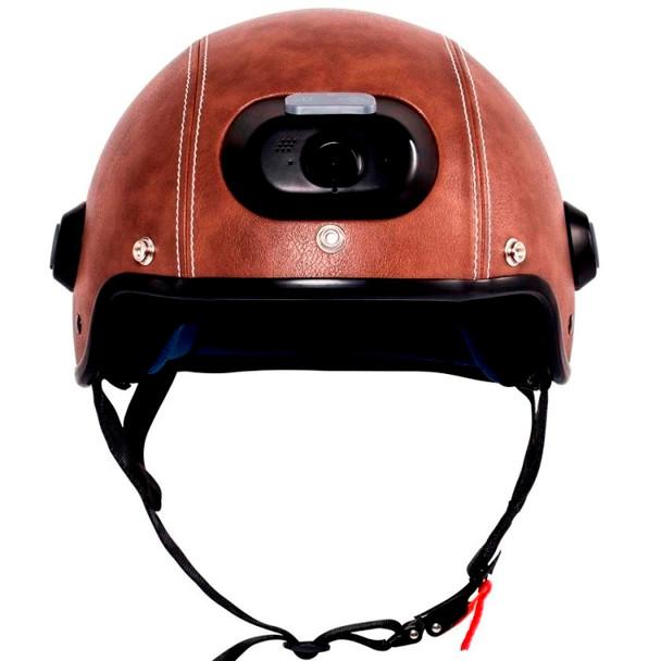 Airwheel C6 Smart Motorcycle Helmet with Built-in Camera & Speakers (Brown Leather)