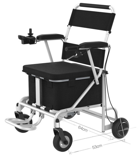 Airwheel H8 Smart Electric Folding Wheel Chair (Black / Silver)