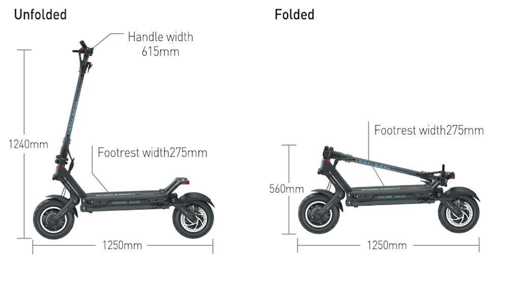 Dualtron Archileus E-scooter Sizing Chart