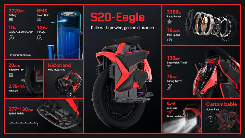 KingSong S20 Eagle EUC Specs