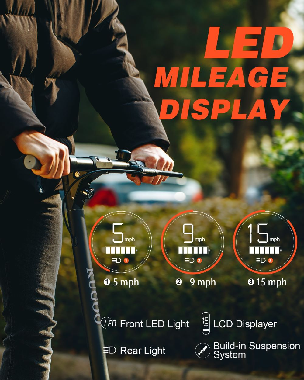 Kugoo M2 Pro Electric Scooter LED Screen