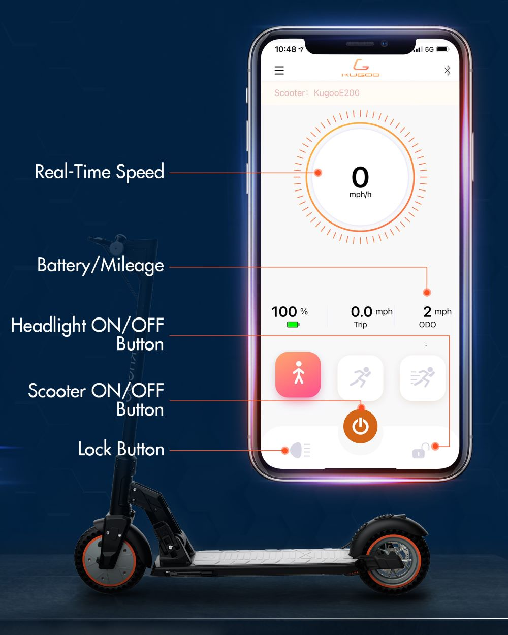 Kugoo M2 Pro Electric Scooter Mobile App