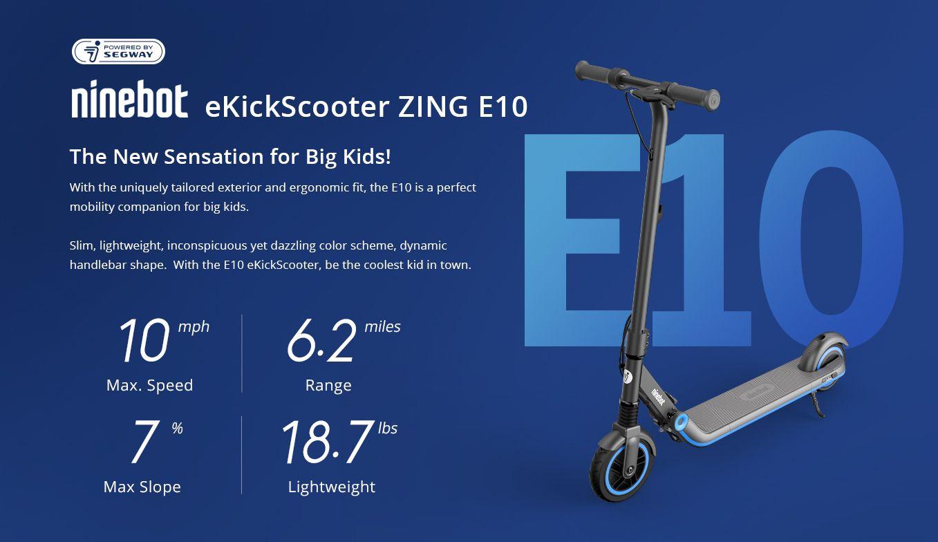 Ninebot Segway E10 Big Kid Scooter