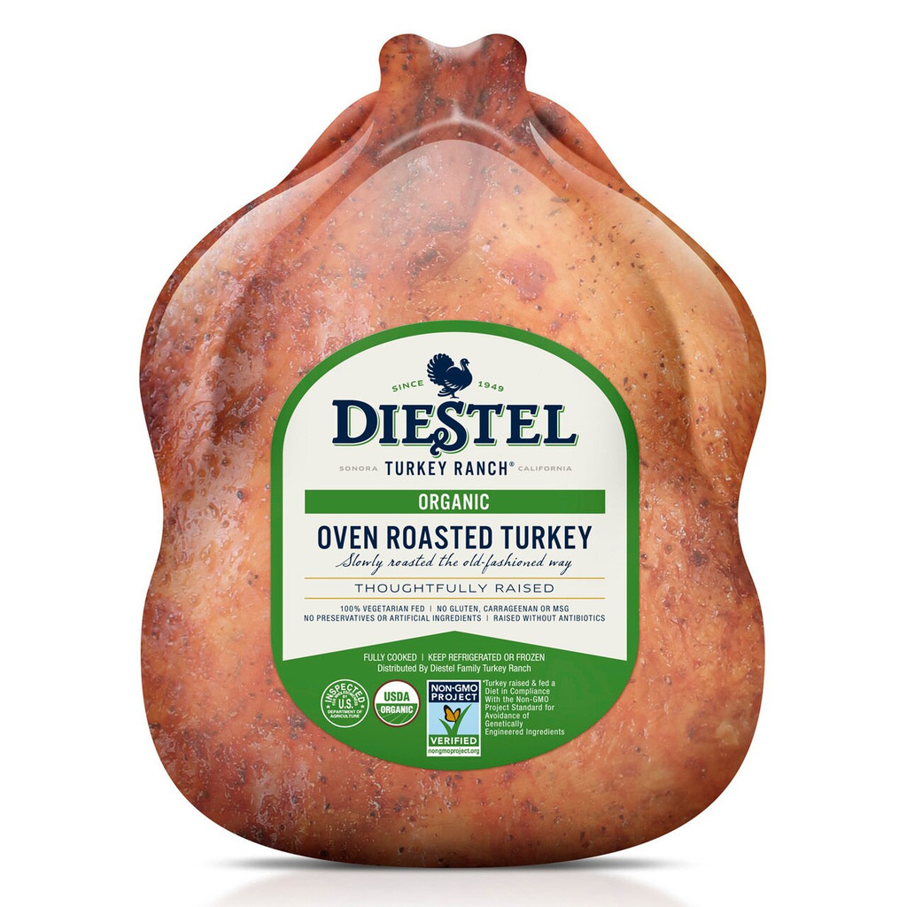 Oven Roasted Organic Whole Turkey, Fully Cooked