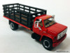 First Gear 1:64 GMC 6500 Single Axle Stake Truck, Red/Black